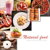 Natural food and drink (various cuisines) Stock Photo