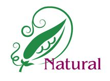 Natural food emblem or label Royalty Free Stock Photo