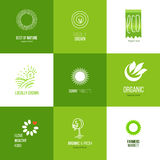Natural food logo set Stock Photo
