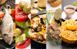 Natural food. Photo collage. Royalty Free Stock Images