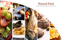 Natural food. Photo collage. stock image