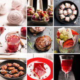 Natural food. Photo collage Royalty Free Stock Photos
