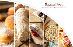 Natural food. Photo collage Royalty Free Stock Photography