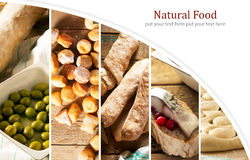 Natural food. Photo collage Stock Image