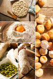 Natural food. Photo collage. Rustic style and background Stock Images