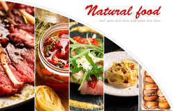 Natural food (various cuisines) Royalty Free Stock Image
