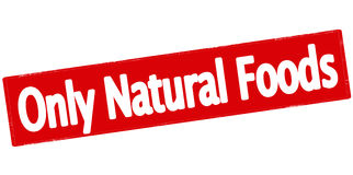 Only natural foods Royalty Free Stock Image