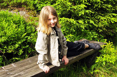 Natural forest child Stock Image