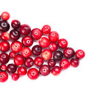 Natural forest cranberry. Red, ripe cranberries Royalty Free Stock Photography