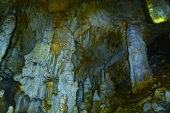 Cave stalactites and stalagmites Royalty Free Stock Photography