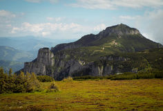 Natural fortress. Mountain in Ceahlau rezervation, Romania Royalty Free Stock Images