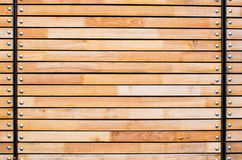 Natural frame made from spikes and planks Stock Photo