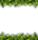 Natural Framework with Fir Twigs. Illustration Natural Framework with Fir Twigs, Copy Space for Your Text - Vector Stock Photo