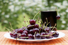 Natural fresh cherry Stock Images