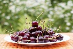 Natural fresh cherry Stock Photography