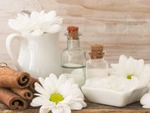 Natural fresh cosmetics fresh as spring stock photo