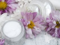 Natural fresh cosmetics fresh as spring stock photos