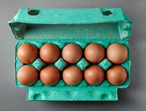 Natural fresh eggs Stock Photos