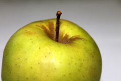Green Apple. Natural fresh green apple fruit royalty free stock photo