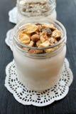 Natural fresh homemade yogurt from cow's milk handmade Stock Image