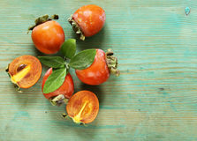Natural fresh organic fruit persimmon Royalty Free Stock Photography