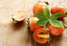 Natural fresh organic fruit persimmon Stock Photography