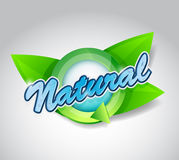 Natural and fresh sign banner illustration design Royalty Free Stock Image