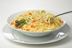 Natural Fresh Spaghetti Tomato Sauce And Asparagus Royalty Free Stock Images