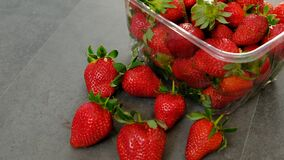 Natural fresh strawberry fruits without hormones and drugs