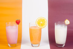 Natural Fruit Juices Stock Images