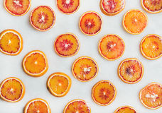 Natural fruit pattern concept with blood orange slices Royalty Free Stock Photo