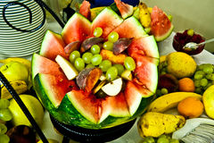 Natural fruits decoration. Watermelon Stock Images
