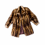 Natural fur coat Stock Photography