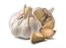 Natural garlic isolated on white background Stock Image