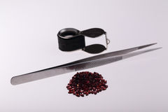 Natural Garnet. Oval in large quantities Stock Photography