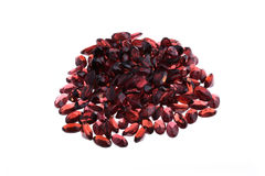 Natural Garnet. Oval in large quantities Stock Photo