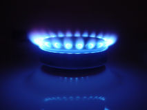 Natural Gas 08. A side view of a burner from a stove Royalty Free Stock Photos