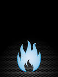 Natural gas. Blue flame on dark background Stock Images