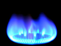 Natural gas, bringing warmly on a black Royalty Free Stock Photos