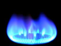 Free Natural Gas, Bringing Warmly On A Black Royalty Free Stock Photos - 7681058