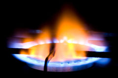 Natural gas burner Royalty Free Stock Photo