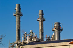 Natural Gas Combined Cycle Power Plant at chonburi thailand Royalty Free Stock Images