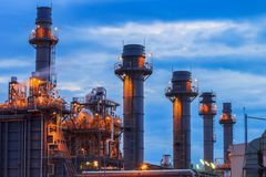 Natural Gas Combined Cycle Power plant electricity generating station. At morning Stock Images