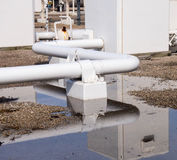 Natural Gas Compressor Discharge Piping Stock Image