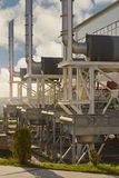 Natural gas compressor station Royalty Free Stock Images
