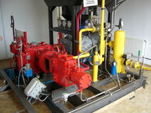 Natural gas compressor unit Royalty Free Stock Images