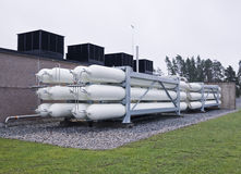 Natural Gas Containers Royalty Free Stock Photography