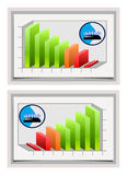 Natural gas diagram Royalty Free Stock Images