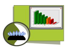 Natural Gas Diagram Stock Photos