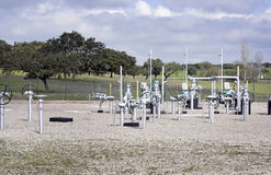 Natural gas distribution. Center of distribution of natural gas royalty free stock photography